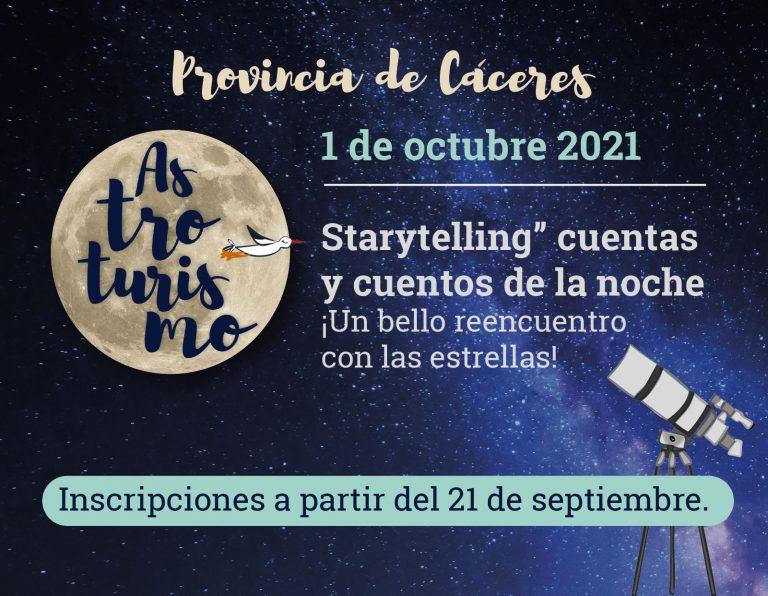 «Starytelling» cuentas y cuentos de la noche ¡Un bello reencuentro con las estrellas!