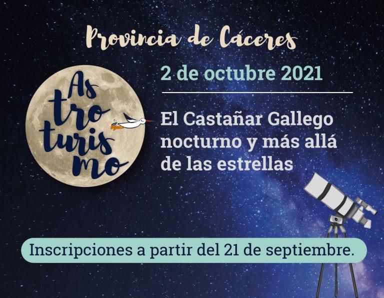 El Castañar Gallego nocturno y más allá de las estrellas